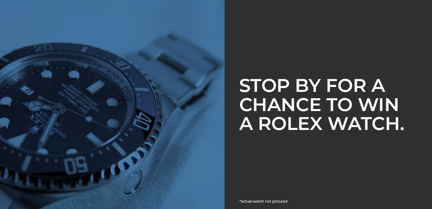 Win a Rolex Watch at Booth 1808C!